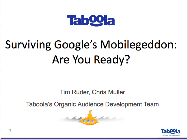 Mobilegeddon Webinar Recap: Go Mobile or Go Home