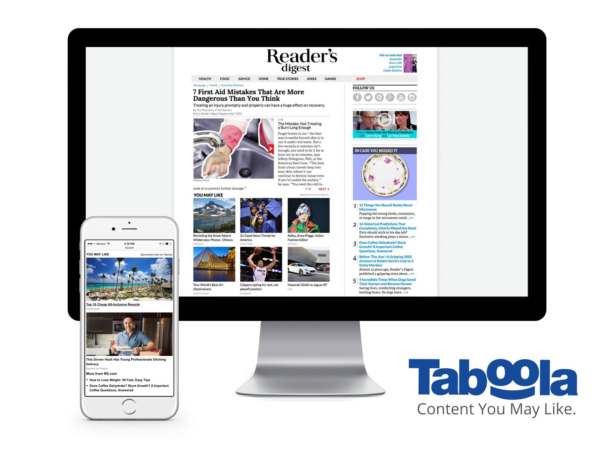 Taboola and Reader's Digest Partner For Multi-Year, Multi-Platform Deal