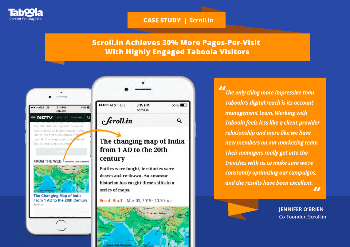 Taboola Case Study: Scroll Achieves 30% More Pages-Per-Visit With Discovery