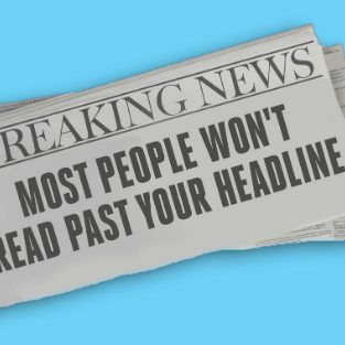 The Headline is 80% of Your Brand Message
