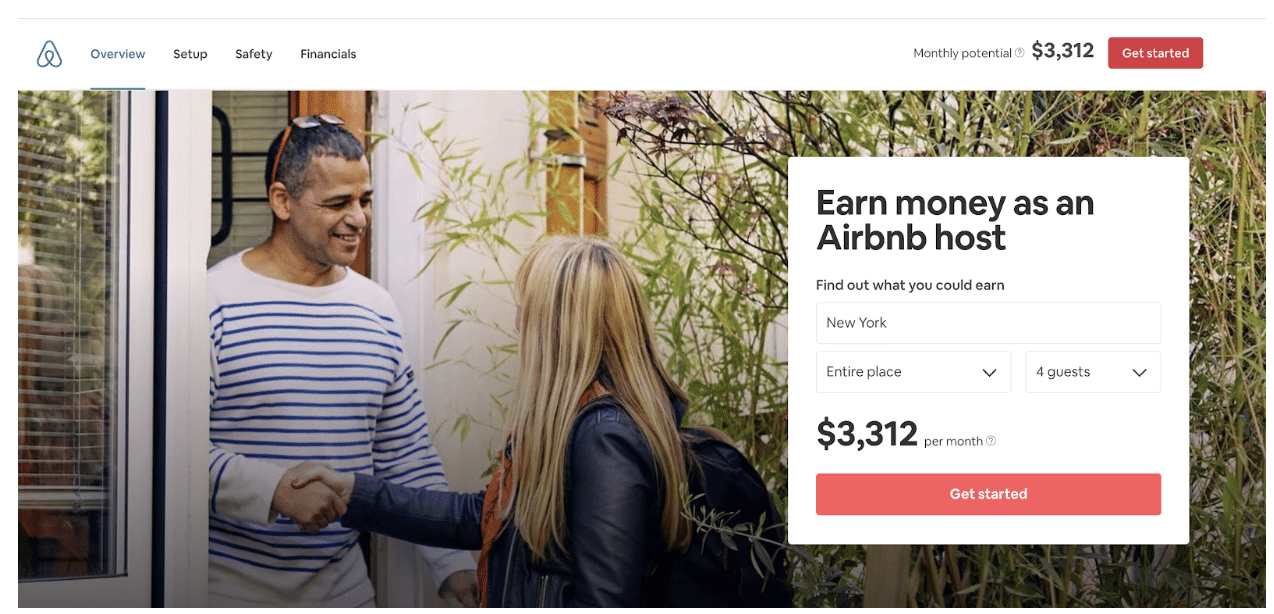 Airbnb's Host Page