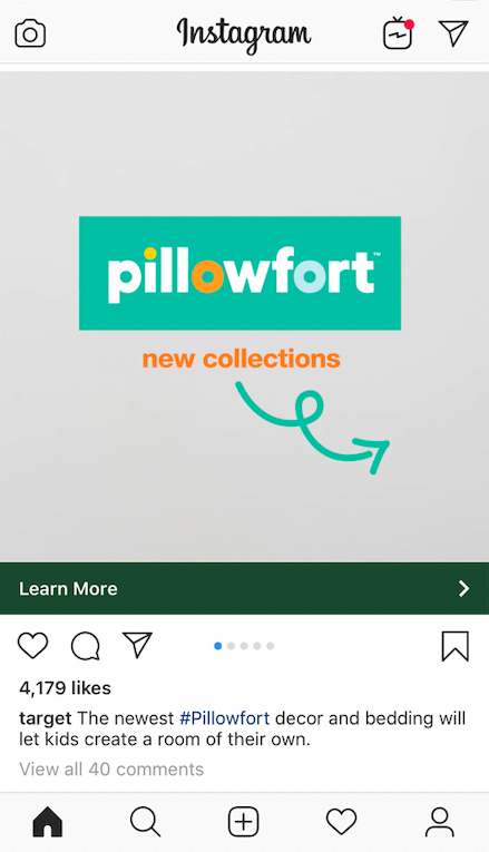 in-feed Instagram ad