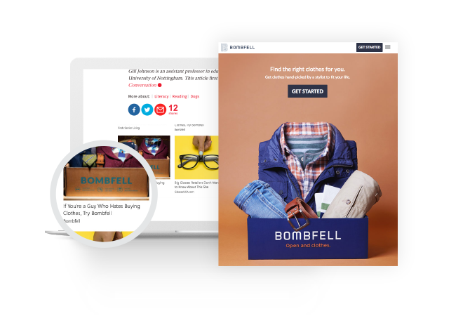 Bombfell used Taboola to build brand awareness
