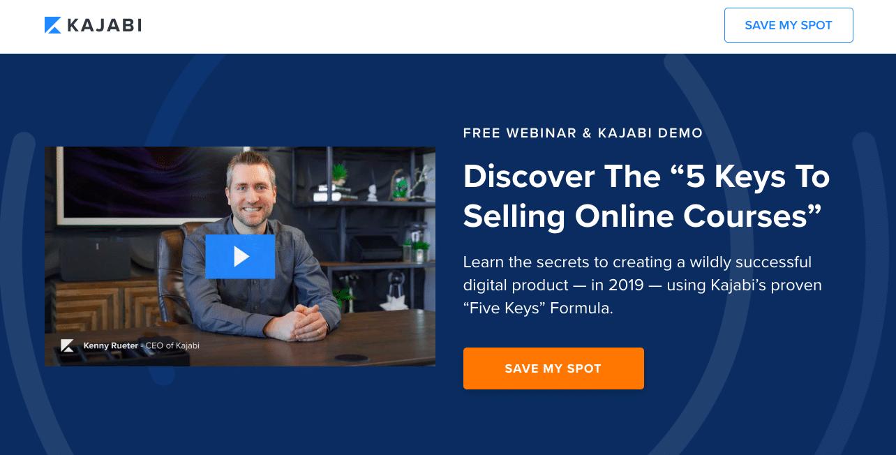 Kajabi offers free webinar & demo