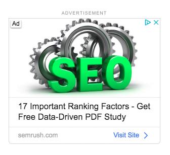 SEMrush ad