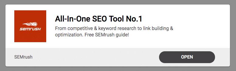 SEMrush banner ad