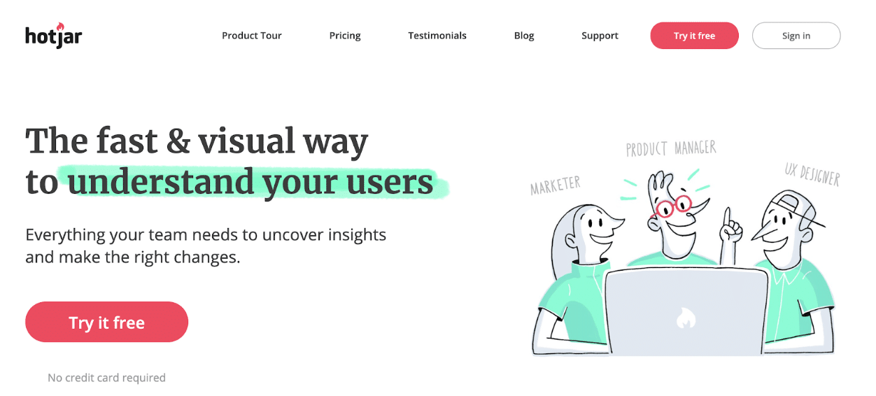 Hotjar - Website Heatmaps & Behavior Analytics Tools
