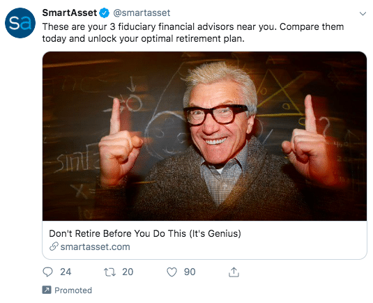 SmartAsset's Twitter Ads