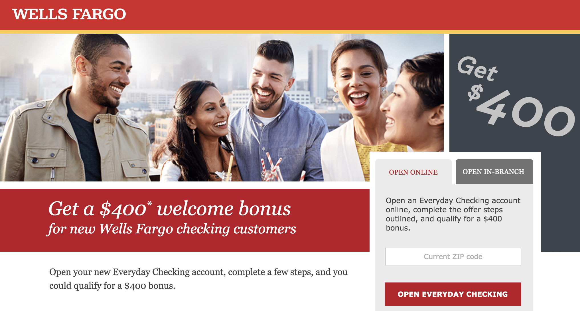 Wells Fargo's Content discovery ad