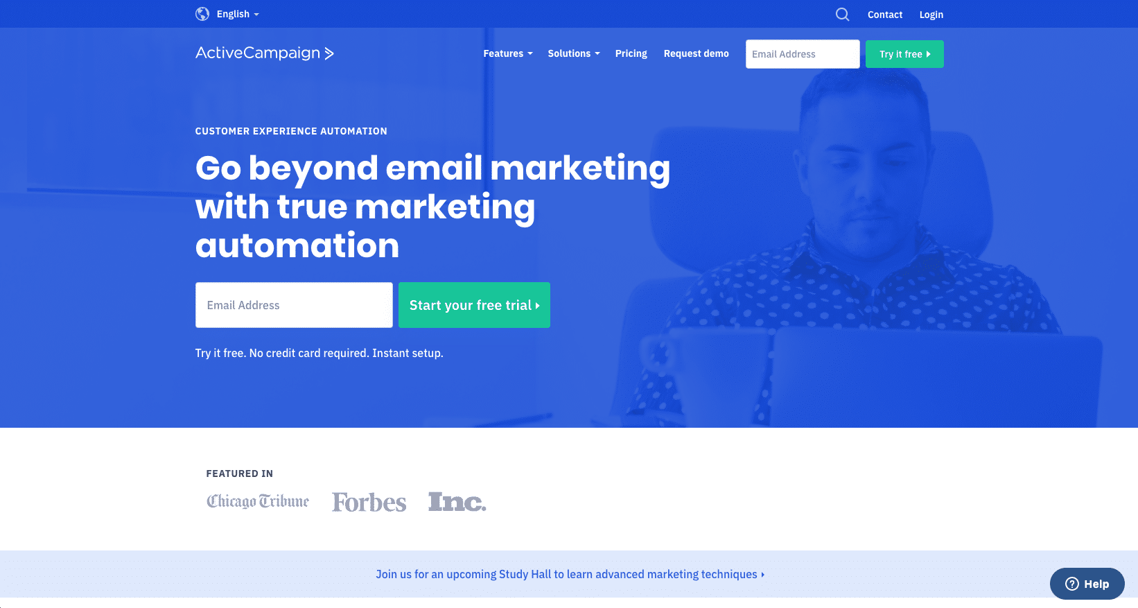 ActiveCampaign is an Integrated email marketing tool