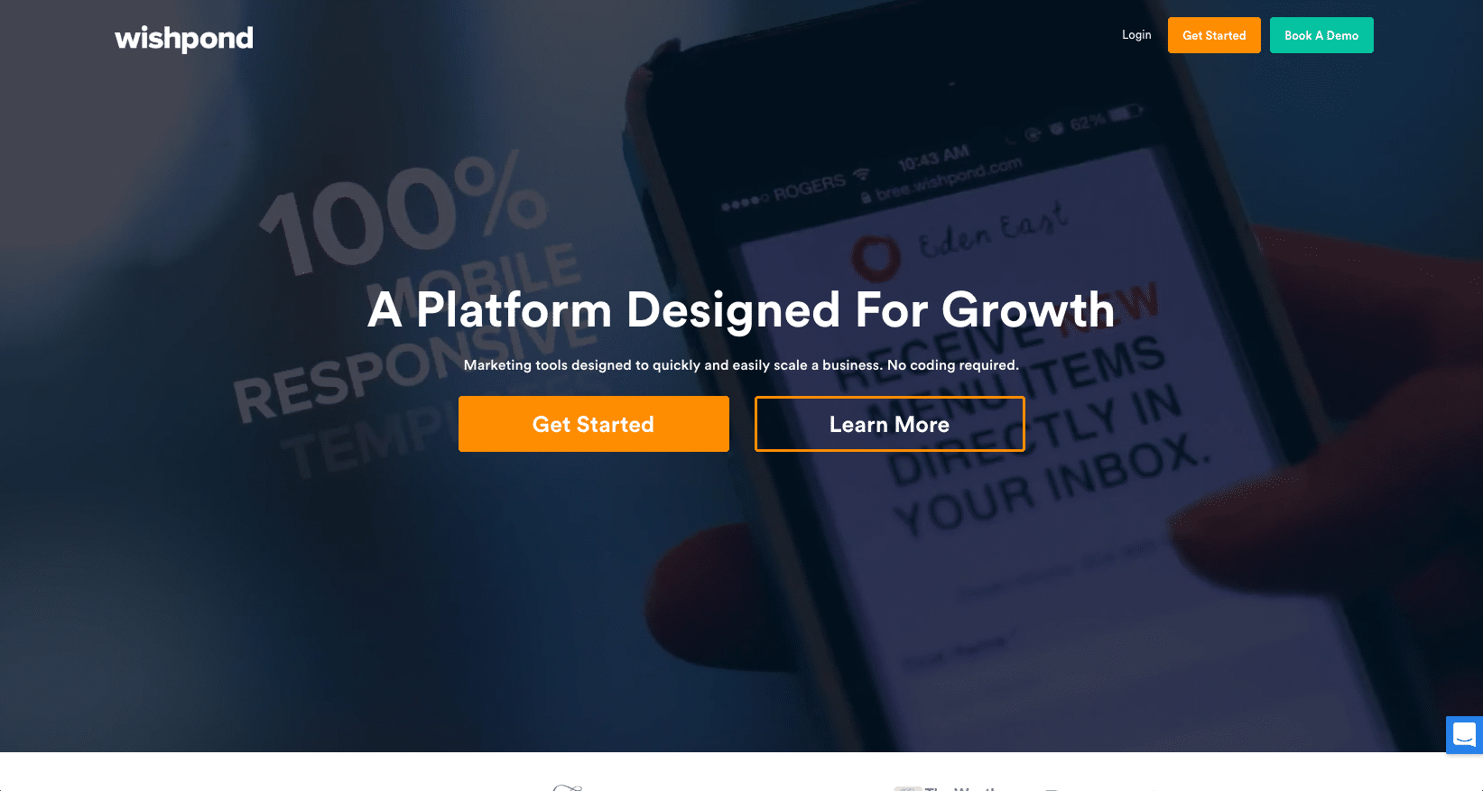 Wishpond - create landing pages and contests, track leads, and send emails