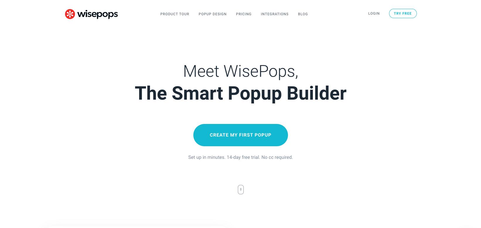 WisePops helps marketers build website popups