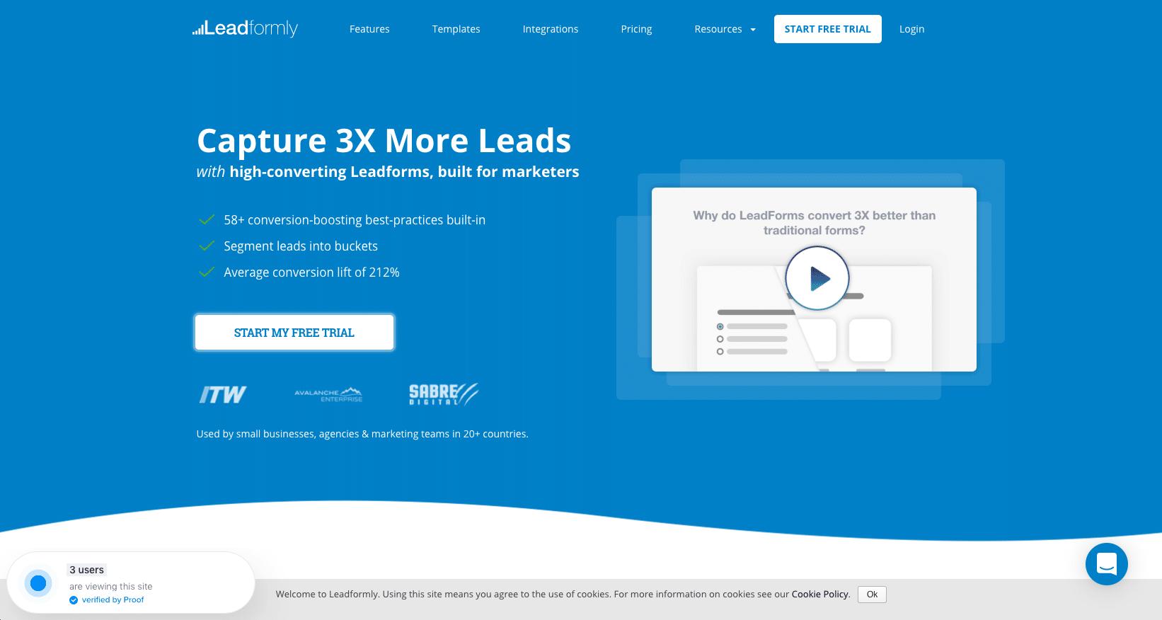 Leadformly: Lead Capture Forms