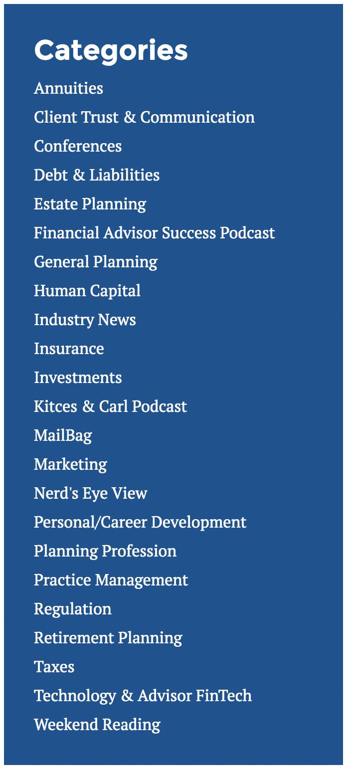 top financial advisor blogs