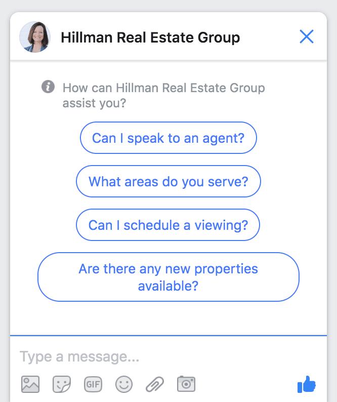 chatbot on Facebook