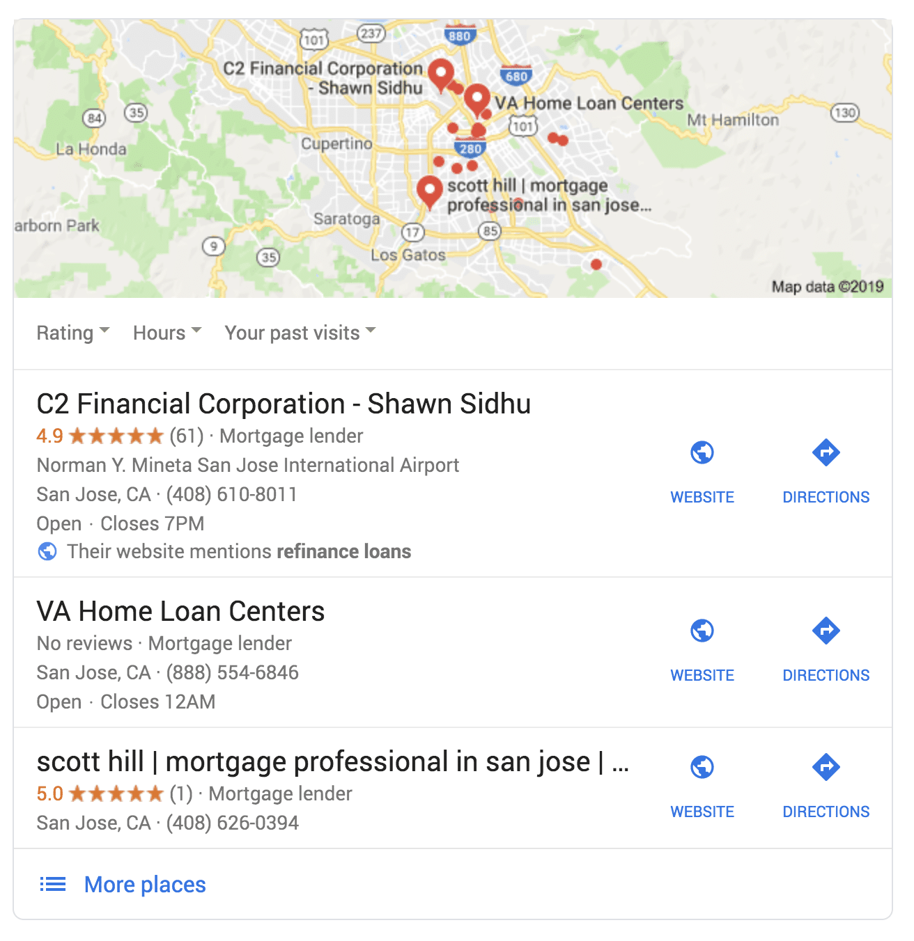Business listing in Google Maps