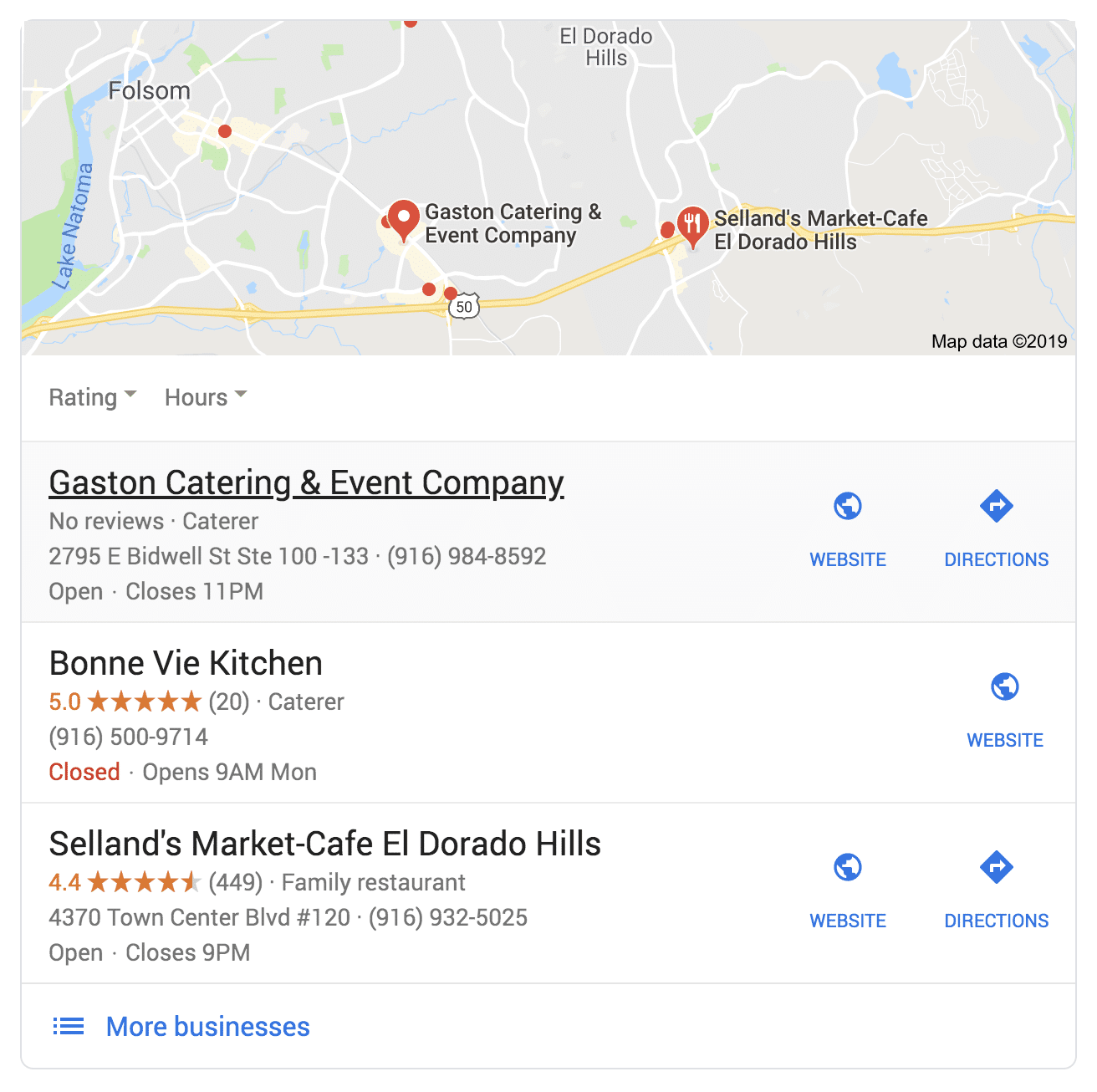 Google My Business directory listing