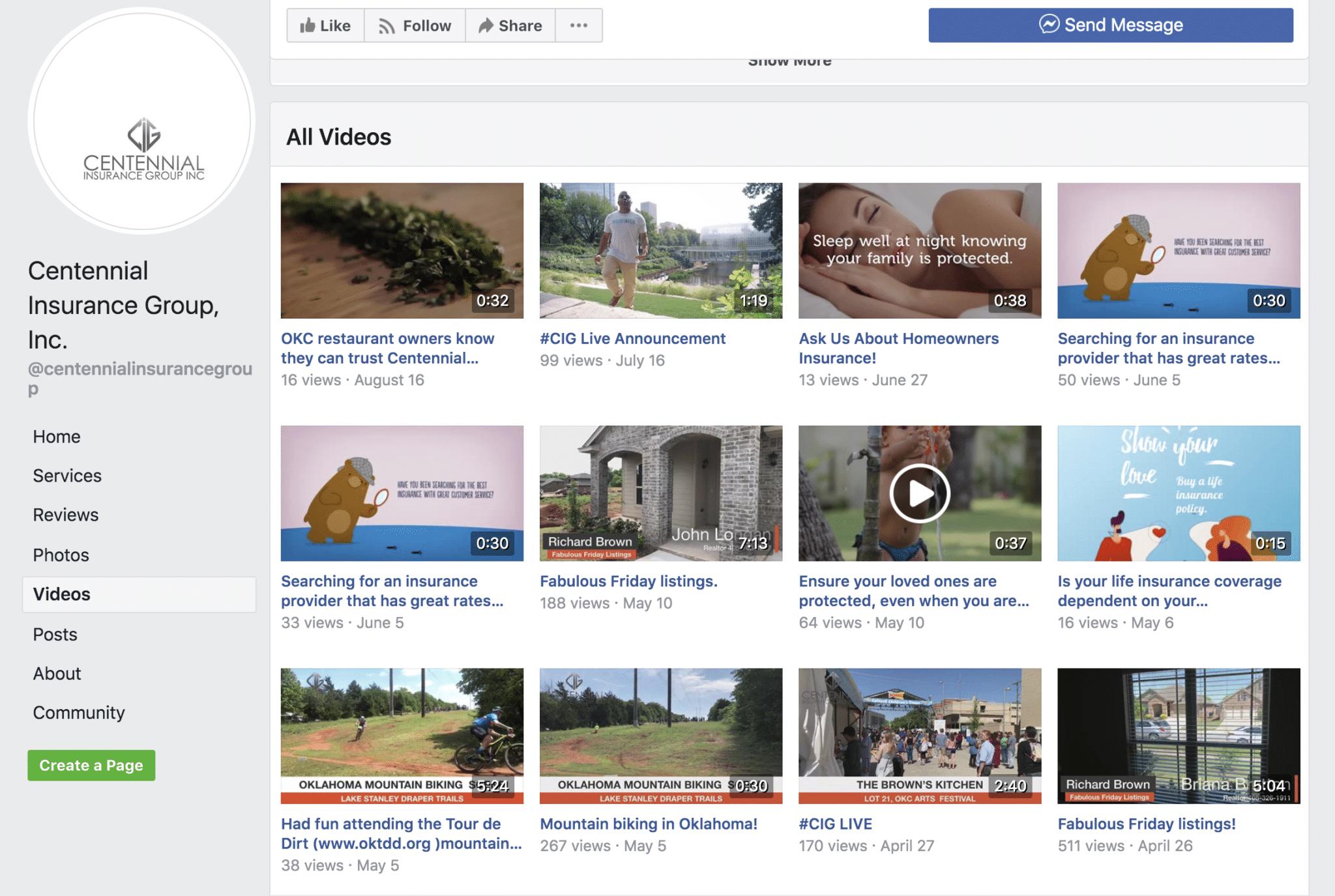 Centennial Insurance's Facebook Live Videos