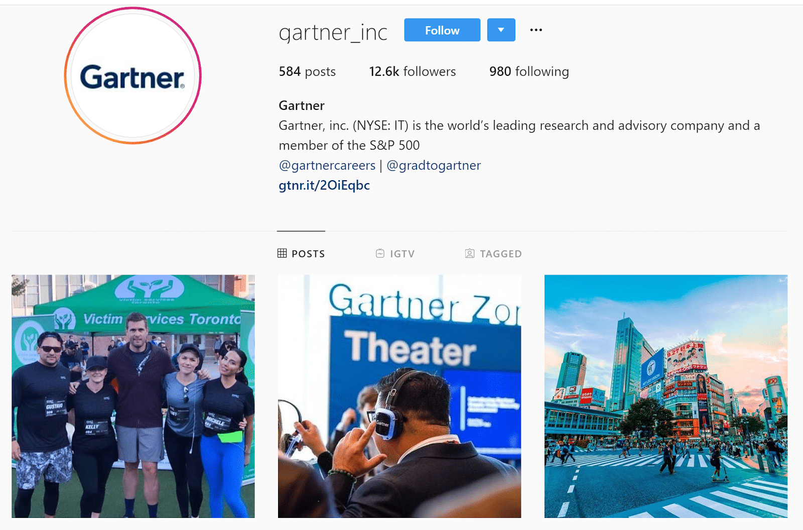 Gartner Instagram campaign
