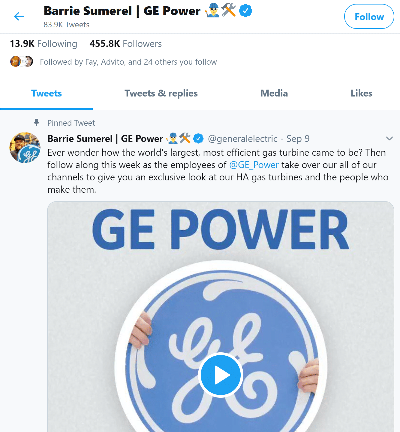 GE Twitter campaign