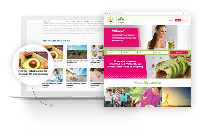 Avocados from Mexico native advertising example