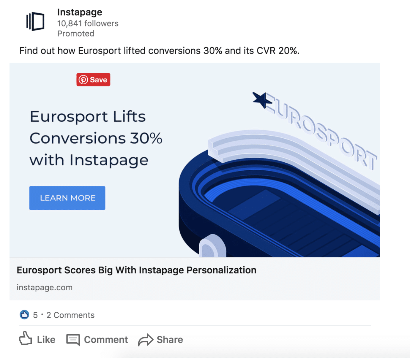 Instapage LinkedIn Ads
