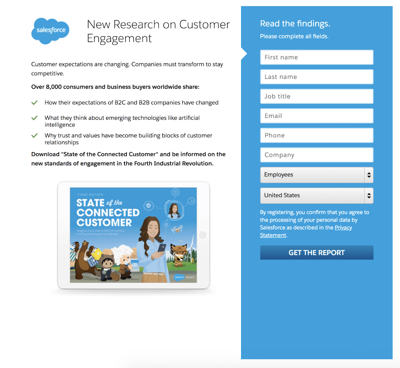 Salesforce Customer Engagement report