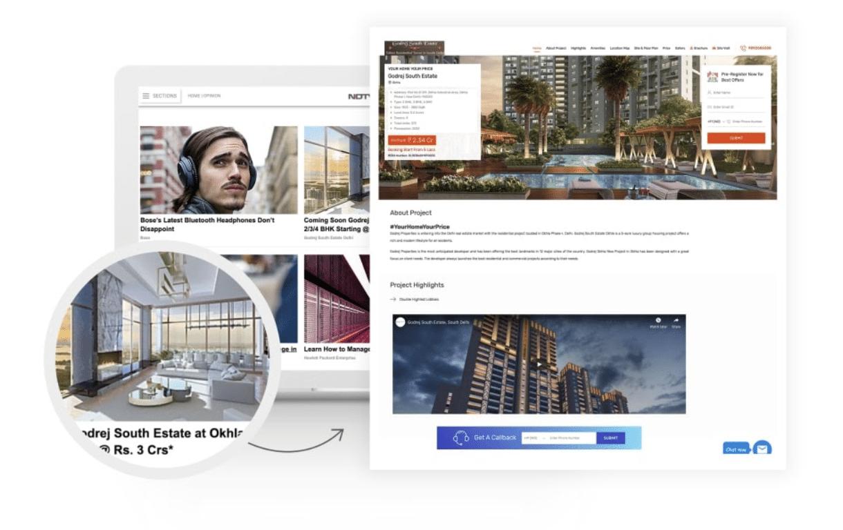 360 Realtors native advertising example