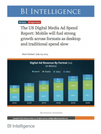 Digital video ad spending report on Business Insider