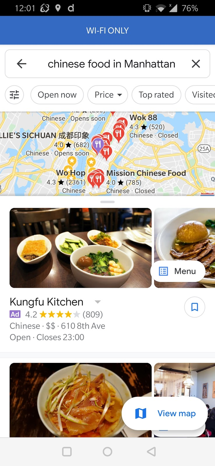 in-map native mobile ads