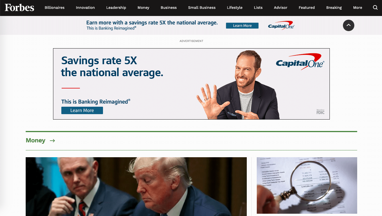 Forbes ad example
