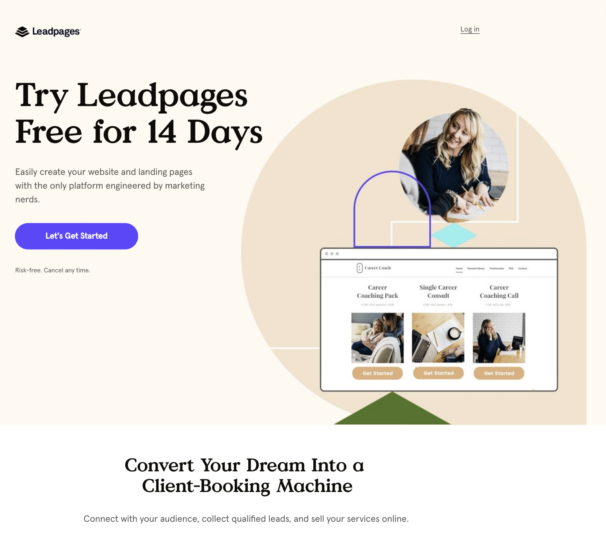 Leadpages landing page