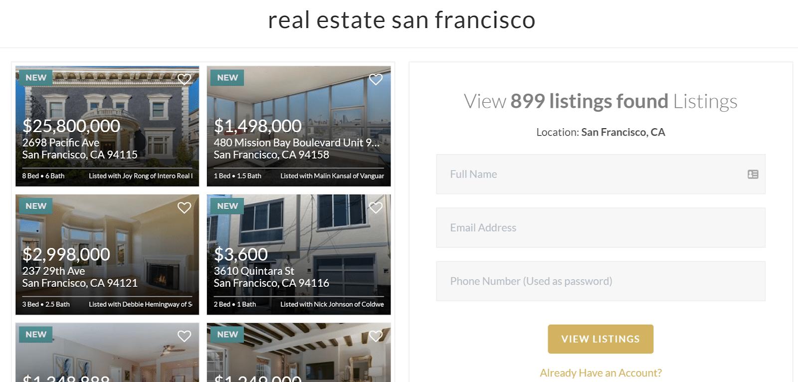 real estate landing pages - poulsen