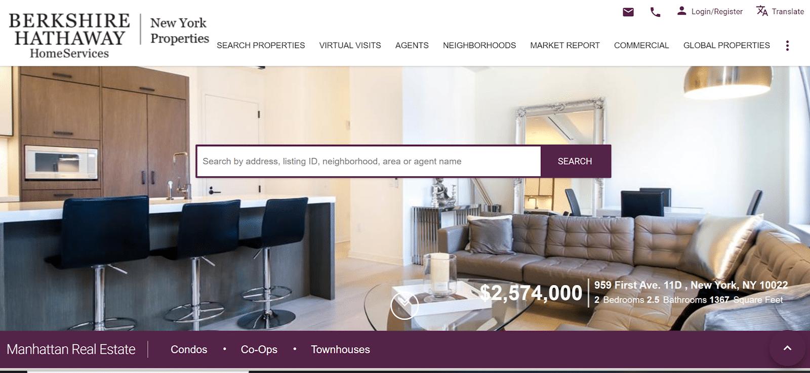 berkshire hathaway real estate landing page