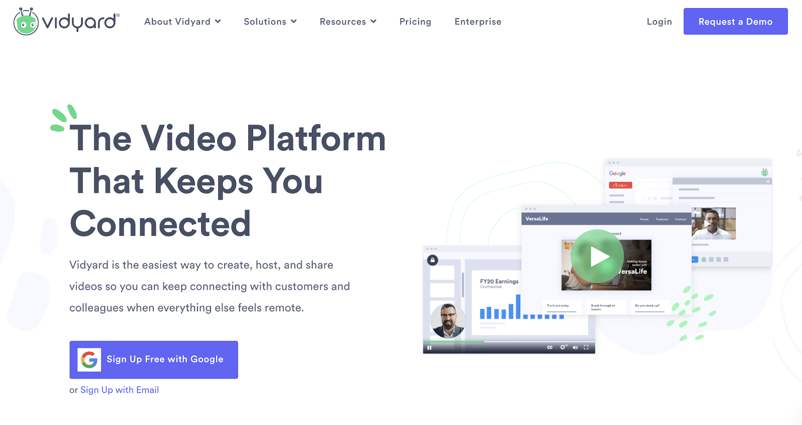 vidyard is for companies looking to put together personalized video