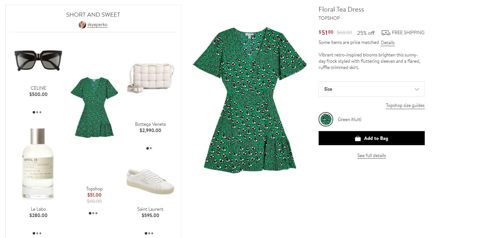 Nordstrom - Offer Complementary Products