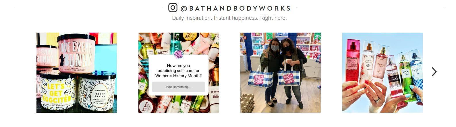 Bath and Body Works - Instagram Gallery