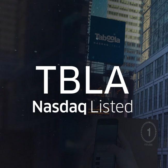 オープン・ウェブへの鐘を鳴り響かせて: Taboola は「TBLA」として NASDAQ に上場します