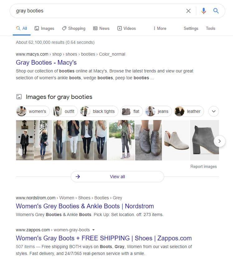 gray booties Optimize Product Pictures for Google Images