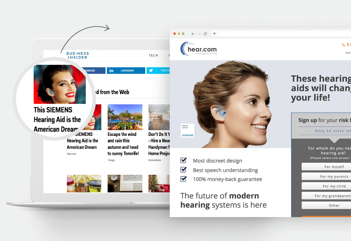 hear.com content recommendation