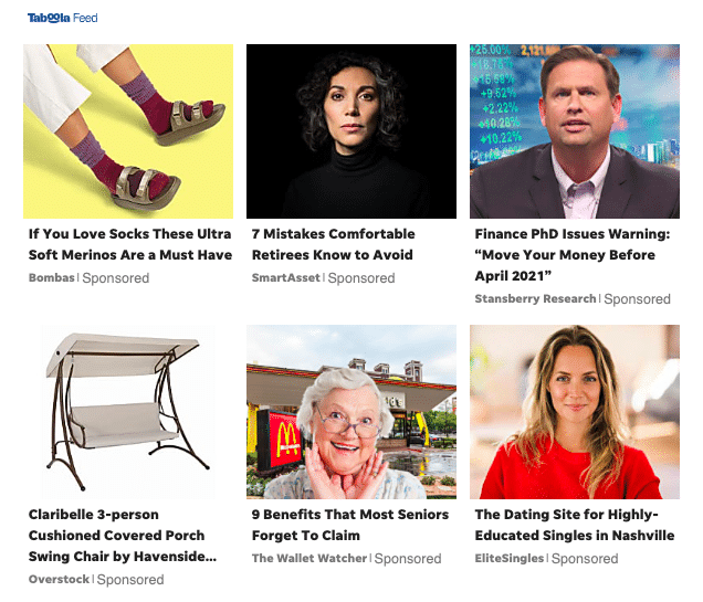 Native Advertising Feed