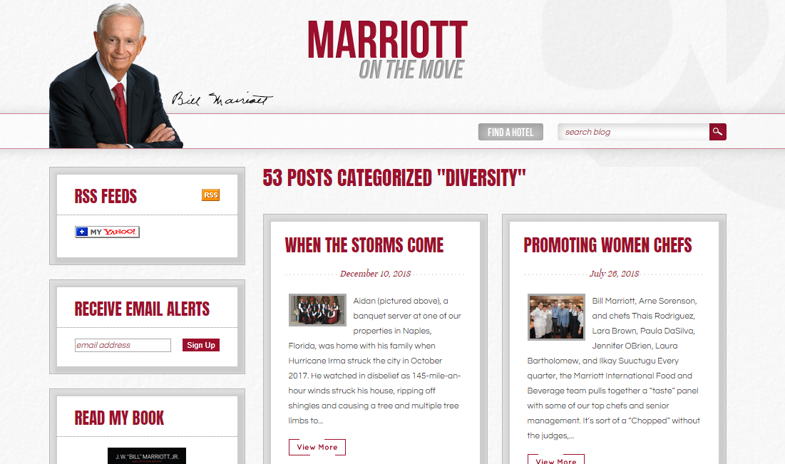 Marriott content strategy