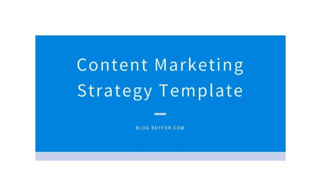 Buffer content marketing strategy template