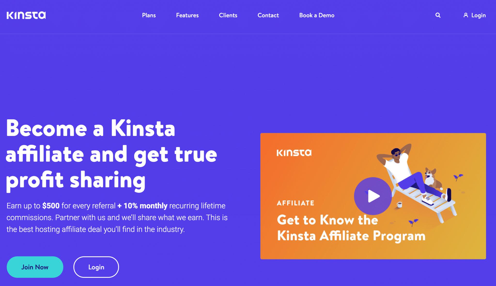 Kinsta - affiliate program